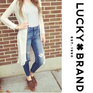 Lucky Brand High-Rise Skinny Jeans Distressed SZ 6